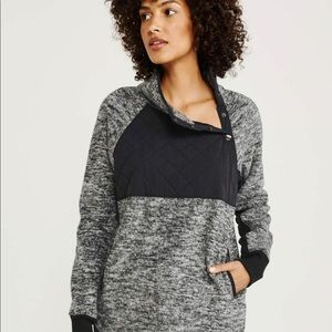 Abercrombie & Fitch Asymmetrical Snap-Up Fleece